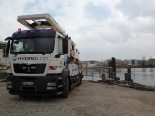camion-hydrocurage-d-un collecteur