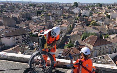 Inspection télévisée de descentes d'eaux, caserne de Bordeaux (33)